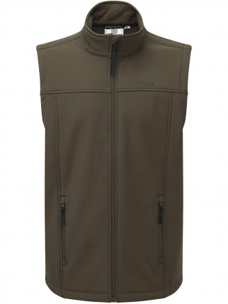 Mens Feizor Softshell Gilet Green