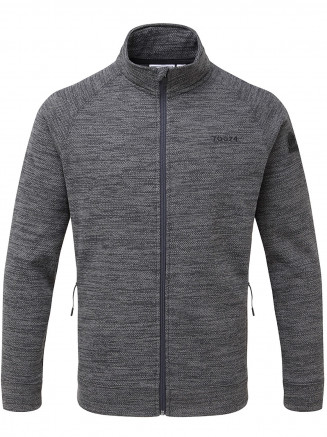 Mens Simpson Knit Look Fleece Jacket Grey