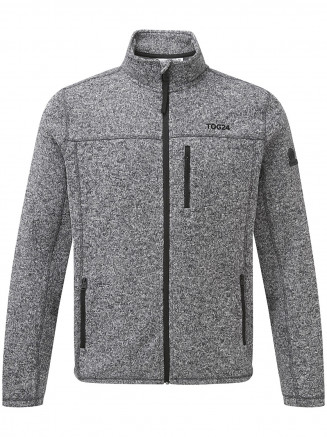 Mens Charlton Knitlook Fleece Jacket Grey