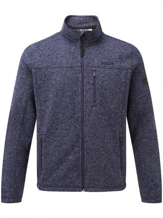 Mens Charlton Knitlook Fleece Jacket Blue