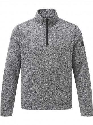 Mens Monza Knitlook Fleece Zipneck Grey