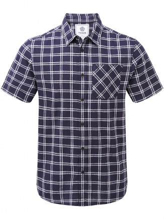 Mens Ashley Short Sleeve Shirt Blue