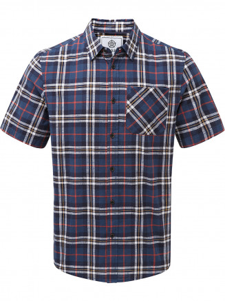 Mens Donald Short Sleeve Shirt Blue