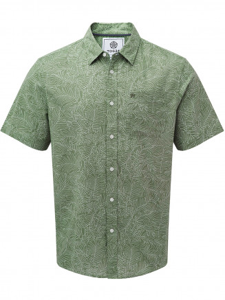 Mens Palm Short Sleeve Shirt Green