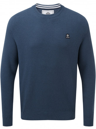Mens Turner Cotton Crew Neck Jumper Grey