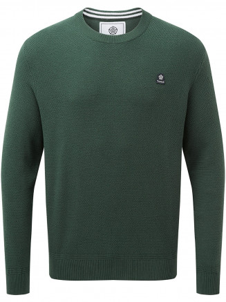 Mens Turner Cotton Crew Neck Jumper Green