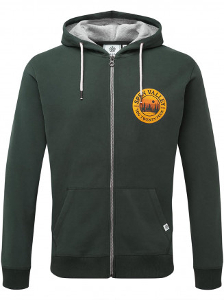 Mens Hetton Zip Hoody Green