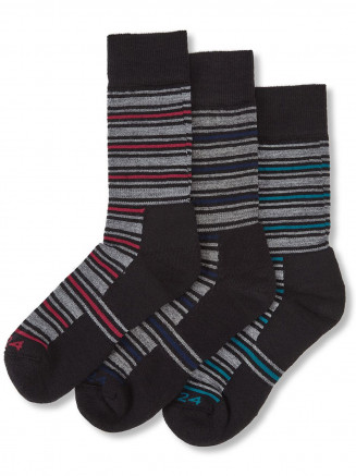 Mens Arram 3 Pack Merino Trek Socks Red