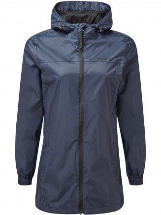 Womens Craven Long Waterproof Packaway Jacket Blue