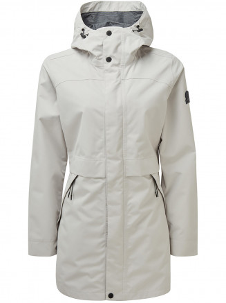 Womens Dawson Long Waterproof Jacket Grey