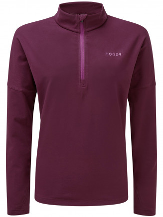Womens Marples Performance Zip Neck Purple