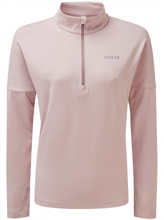 Womens Marples Performance Zip Neck Pink