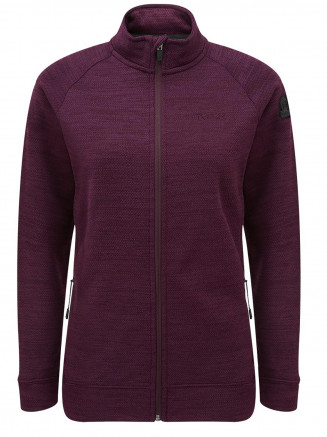 Womens Simpson Knit Look Fleece Jacket Purple