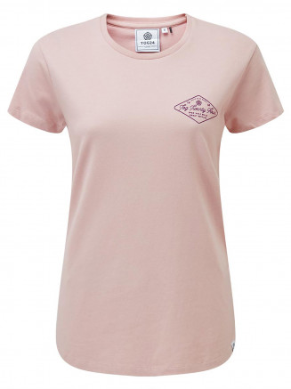 Womens Harome Graphic T-shirt Pink