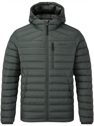 Mens Drax Hooded Down Jacket Green