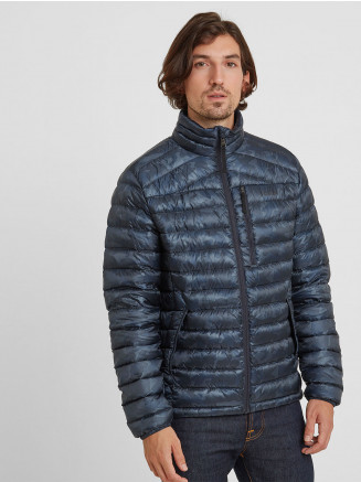 Mens Drax Funnel Down Jacket Blue