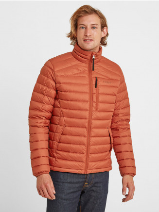 Mens Drax Funnel Down Jacket Orange