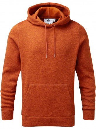 Mens Mosby Knitlook Fleece Hoody Orange