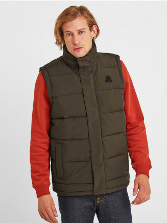 Mens Barmston Insulated Gilet Green