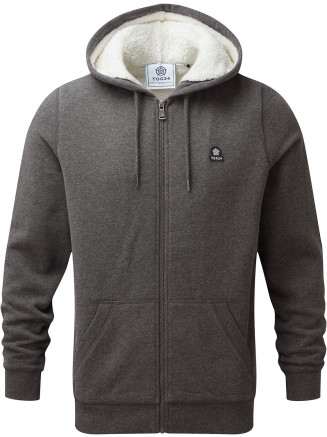 Mens Corbet Sherpa Lined Hoody Grey