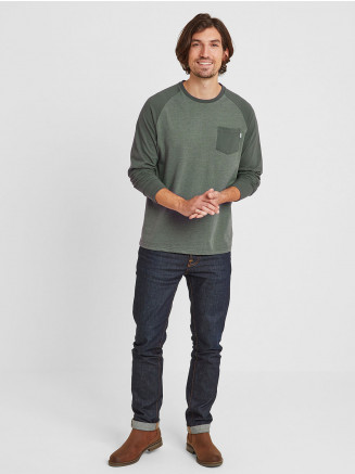 Mens Kennett Long Sleeve Raglan T-shirt Green