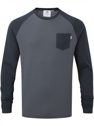 Mens Kennett Long Sleeve Raglan T-shirt Blue