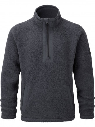 Mens Pollard Sherpa Fleece Zipneck Blue