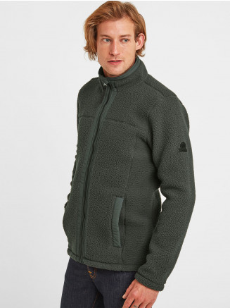 Mens Pyrah Sherpa Fleece Jacket Green