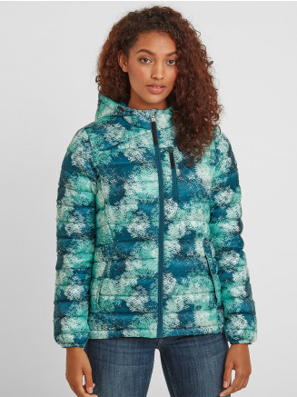 Womens Drax Hooded Down Jacket Multi