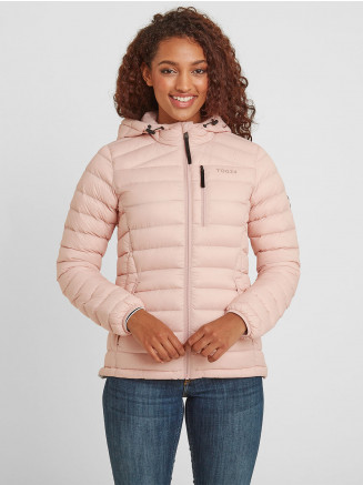 Womens Drax Hooded Down Jacket Pink