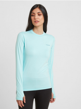 Womens Snowdon Thermal Crew Neck Blue