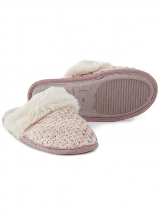 Womens Tunnard Knit Slipper Pink