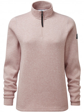 Womens Pearson Knitlook Fleece Zipneck Pink