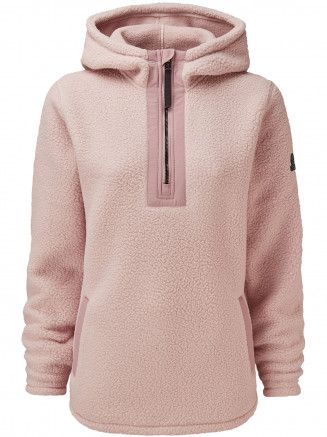 Womens Albones Sherpa Fleece Hooded Jacket Pink