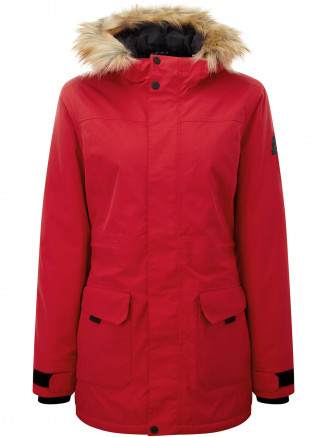 Womens Alderidge Waterproof Parka Red