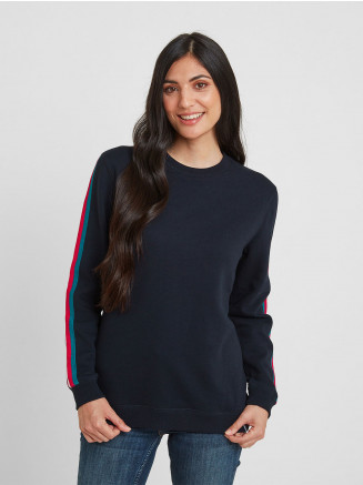 Womens Carmen Crew Neck Jumper Blue