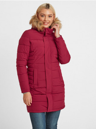 Womens Firbeck Long Insulated Jacket Pink