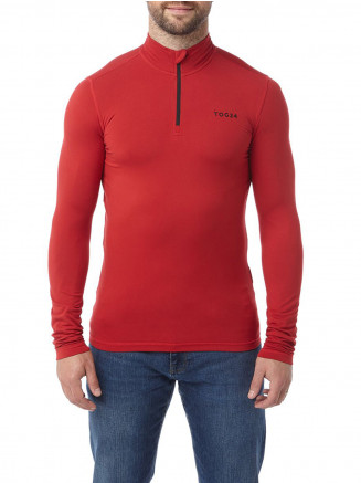 Mens Fixby Thermal Zip Neck Red