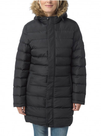 Womens Otley Long Insulated Jacket Black