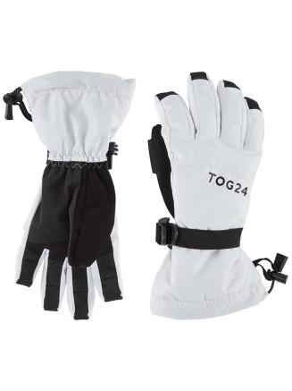 Mens Womens Lockton Ski Gloves White