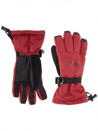 Mens Womens Lockton Ski Gloves Red