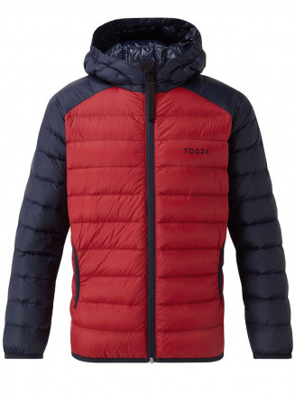 Kids Fuse Hooded Down Jacket Red