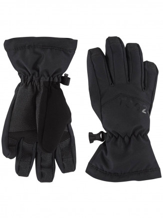 Kids Lockton Waterproof Ski Gloves Black