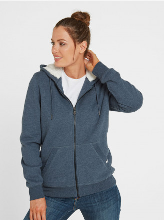 Womens Ada Zip Sherpa Hoody Blue