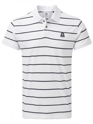 Mens Alfie Stripe Polo Shirt White