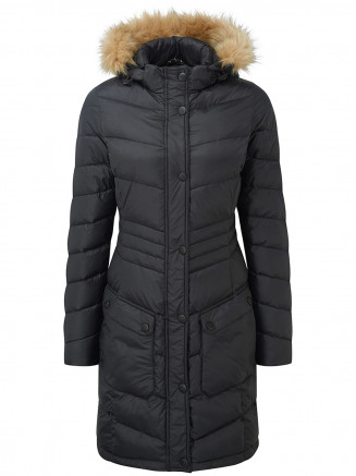 Womens Buffy Down Jacket Black