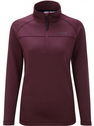 Womens Filey Tcz Stretch Zipneck Red