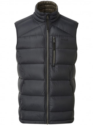 Mens Peak Down Gilet Black