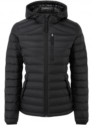 Womens Base Hooded Down Jacket Grey
