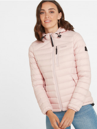 Womens Base Hooded Down Jacket Pink